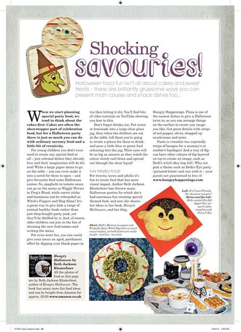 handmade halloween magazine features fun halloween recipes