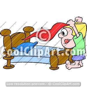 making  bed clipart clipground