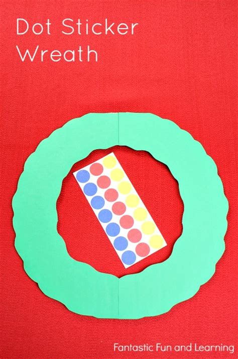 easy dot sticker christmas crafts fantastic fun learning