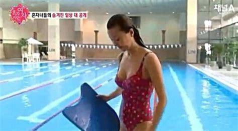 50대 임지연 볼륨 넘치는 수영복 몸매사이즈는 스포츠동아