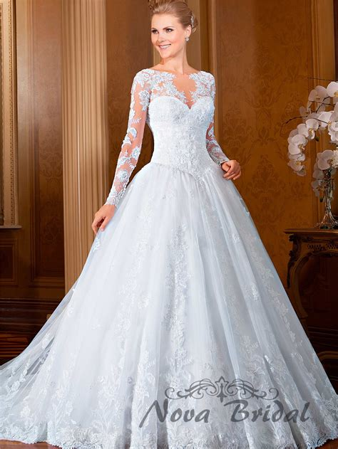 sleeve wedding dresses designer 2015 new design gown lace beading luxury gowns