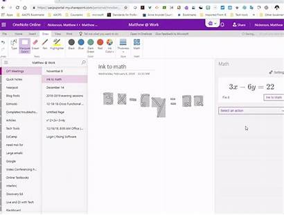 Math Ink Onenote Fix Equations Button Theother