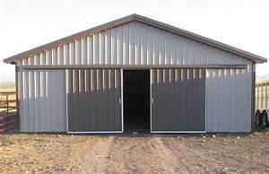 farm pole barn hansen buildings With agricultural sliding doors