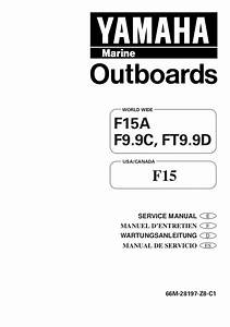 Yamaha F15ae Outboard Service Repair Manual S  100302