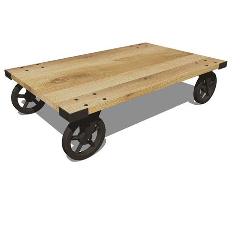 Wheeled Coffee Table 3d Model  Formfonts 3d Models & Textures