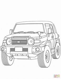 toyota fj cruiser coloring pages coloring pages With toyota fj cruiser