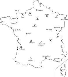 Carte De Avec Principales Villes A Imprimer by Carte De Villes Vierge