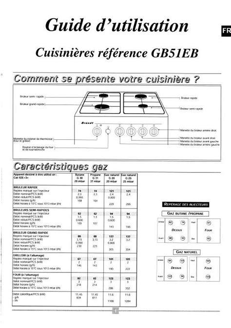 pictogramme cuisine gratuit mode d 39 emploi cuisinière brandt gb51eb trouver une