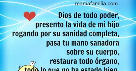 dios te ruego por la sanidad de mi hijo oraci 243 n corta