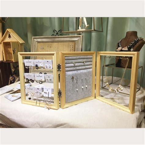 wooden earrings necklace display storage props jewelry display shelves ring jewelry special