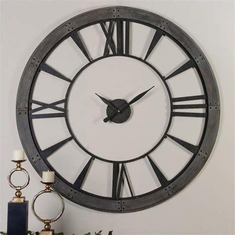 Uttermost Wall Clocks by Uttermost Ronan 60 Inch Wall Clock In Rustic Bronze