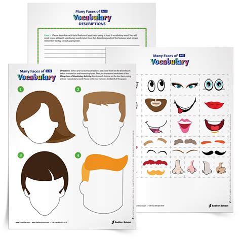 vocabulary building worksheets  combine creative