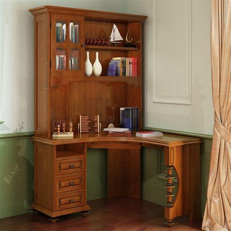 Corner Desk Vanity Combo by American Wood Computer Desk Corner Bookcase Combination Of