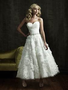 hills in hollywood bridal and formal wear tea length With wedding dress tea length