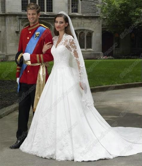 style kate middleton princess classic long sleeves