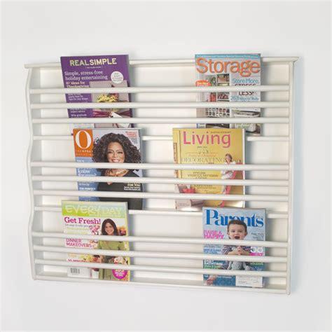 Wall Mount Magazine Rack Bathroom by Deluxe Wall Mount Magazine Rack Contemporary Magazine