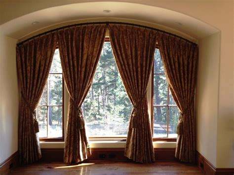 Window Curtains by Curtains Arched Window Curtain Rod For Best Window