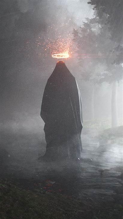 Scary Iphone Dark Rain Wallpapers Ghost Bh23