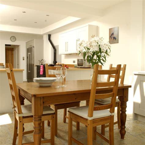 open plan kitchen diner designs wooden open plan kitchen diner ideal home 7200