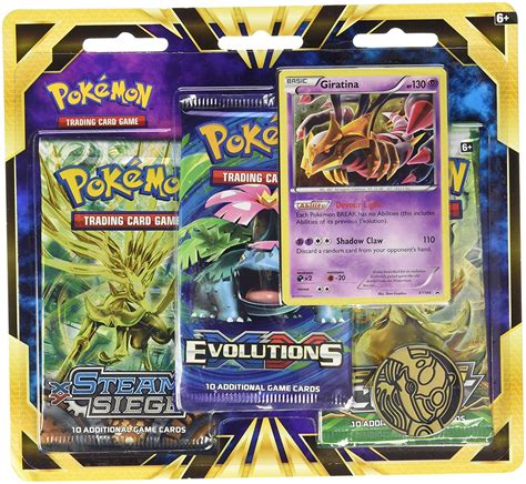 This one is my giratina card. Pokemon TCG: Giratina Blister Pack Containing 3 Booster Packs And Featuring Foil Giratina And A ...
