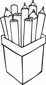 Pencil Coloring Pencils Clipart Pen Stack Cliparts Clip Drawing Line Case Preschool Crayon Container Library Brush Crafts Coloringhome Favorites sketch template