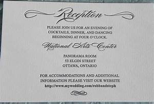 reception card wording wedding invitation ideas With wedding invitation wording same venue ceremony and reception