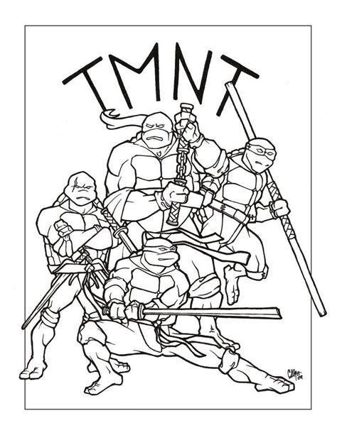 Tortugas ninja para pintar Dibujos para colorear