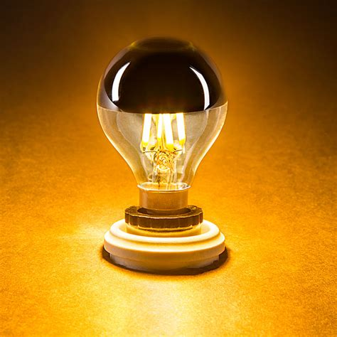 g14 candelabra led bulb silver tipped led filament bulb