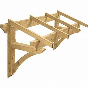 marquise en bois pour porte d39entree 13 m2 borgia With porte d entree en anglais