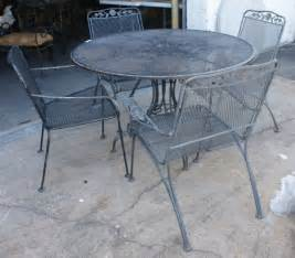 63 vintage woodard wrought iron patio furniture lot 63