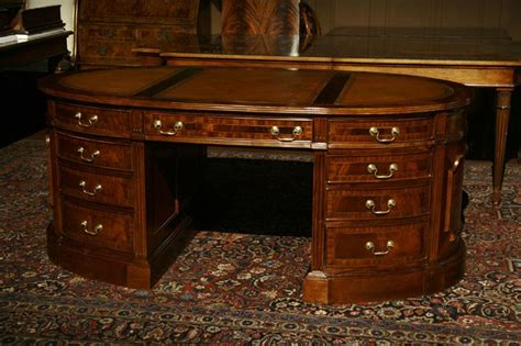 oval office desk oval partners desk mahogany desk leather top desk