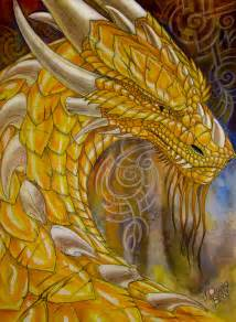 White and Gold Dragon