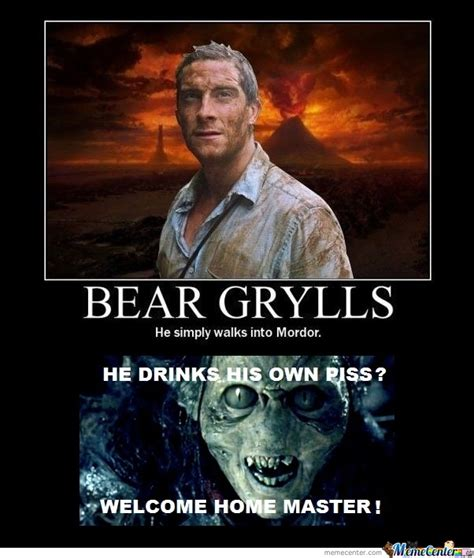 Meme Bear Grylls - bear grylls my master by skymonkey meme center