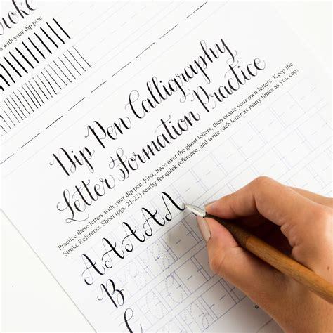premium calligraphy worksheet set style the