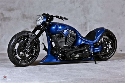 Blue Chopper Force Harley-davidson Motocycle Motors Noise