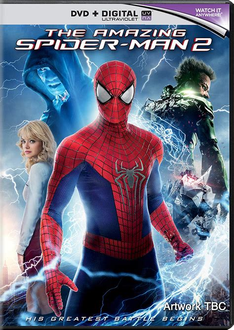 'the Amazing Spiderman 2' Dvdbluray Cover And Details