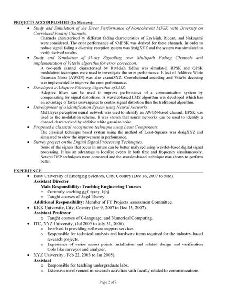How To Write A 2 Page Resume by How To Write A Cv