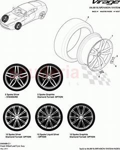 Aston Martin Virage Front Wheel And Tyre Assembly Parts