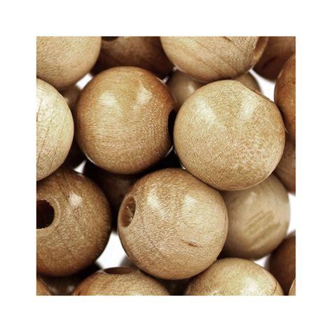 grosses perles en bois grosses perles rondes en bois 12 mm naturel x30 perles co