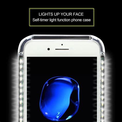lights when phone rings led light up selfie power bank ring hold cover for
