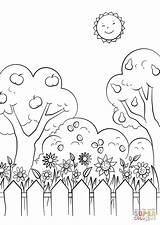 Coloring Garden Pages Printable Gnome Gardens Drawing Paper sketch template