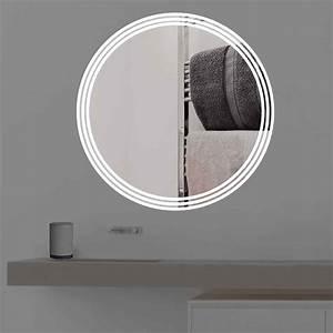 Badspiegel Rund Mit Beleuchtung : badspiegel mit beleuchtung auf 3 streifen rund r 400 ~ Indierocktalk.com Haus und Dekorationen