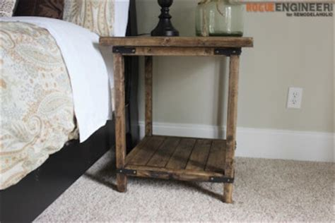 Rustic Nightstand Plans by Bedside Tables Nightstands Diy Funiture Plans Rogue