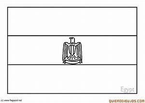 LAMINAS PARA COLOREAR COLORING PAGES: Mapa y Bandera de Egipto para dibujar pintar colorear