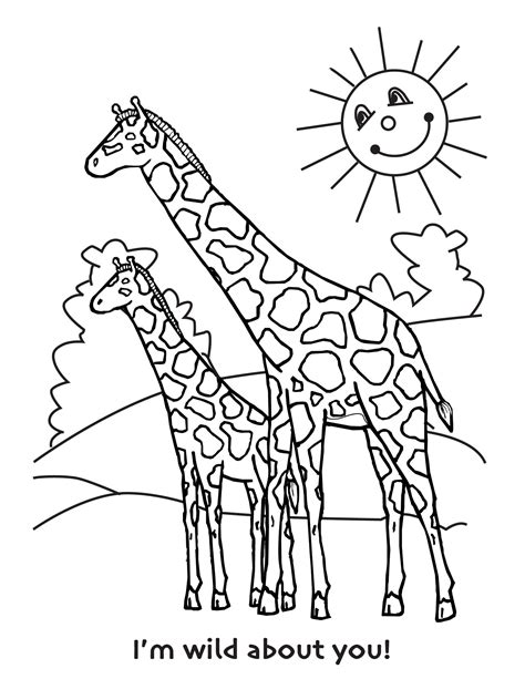 printable giraffe coloring pages  kids baby