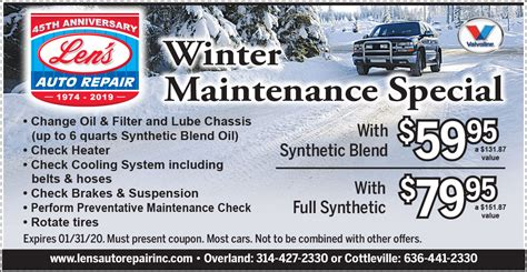 winter special lens auto repair st louis county st