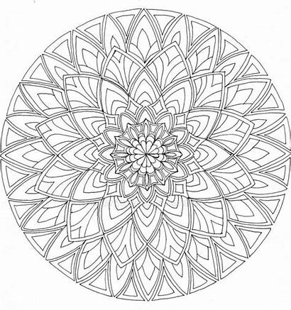 Mandala Coloring Pages Mandalas Adult Printable Adults