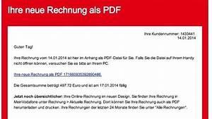 Meine Vodafone Rechnung : trojaner angriff falsche rechnungen von vodafone im ~ Themetempest.com Abrechnung
