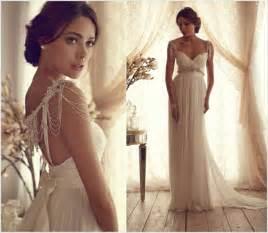 brautkleid vintage stil ein romantisches brautkleid mit perlenbesetzten trägern