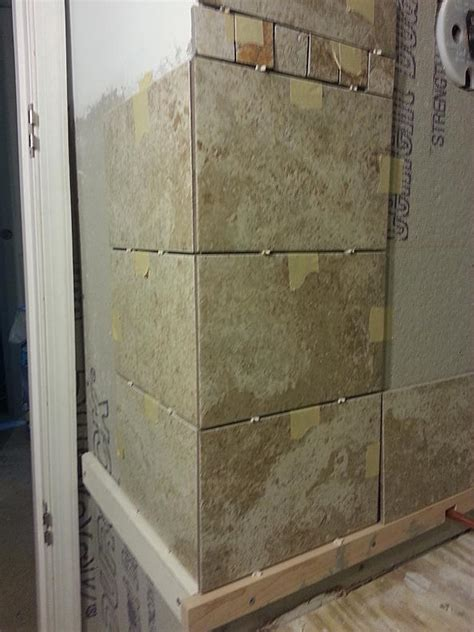 Tiling Inside Corners Wall by Tiling Outside Corner Walls In Brick Pattern Ceramic